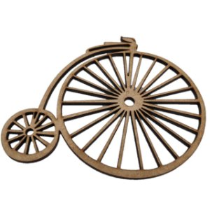 Aplique Laser MDF - Aplique Bicicleta - 10,5x8cm