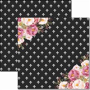 Papel Para Scrapbook Dupla Face 30,5x30,5 cm Arte Fácil - SC-421 - Chanel 6