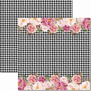 Papel Para Scrapbook Dupla Face 30,5x30,5 cm Arte Fácil - SC-420 - Chanel 5