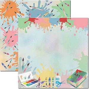 Papel Para Scrapbook Dupla Face 30,5x30,5 cm Arte Fácil - SC-631 - Volta as Aulas 2