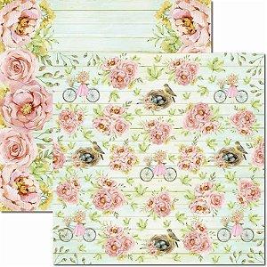 Papel Para Scrapbook Dupla Face 30,5x30,5 cm Arte Fácil - SC-635 - Brisa 2