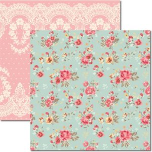 Papel Para Scrapbook Dupla Face 30,5x30,5 cm Arte Fácil - SC-314 - Floral e Renda