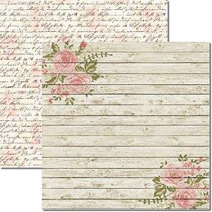 Papel Para Scrapbook Dupla Face 30,5x30,5 cm Arte Fácil - SC-312 - Madeira 2