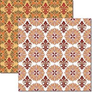 Papel Para Scrapbook Dupla Face 30,5x30,5 cm Arte Fácil - SC-297 - Azulejo Hidráulico 1