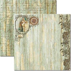 Papel Para Scrapbook Dupla Face 30,5x30,5 cm Arte Fácil - SC-296 - Beach 7