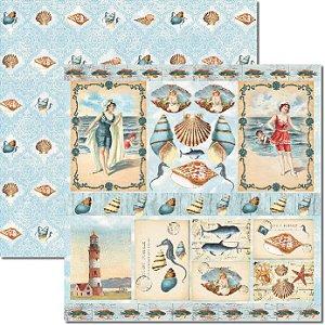 Papel Para Scrapbook Dupla Face 30,5x30,5 cm Arte Fácil - SC-293 - Beach 4