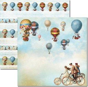 Papel Para Scrapbook Dupla Face 30,5x30,5 cm Arte Fácil - SC-284 - Viagem 3