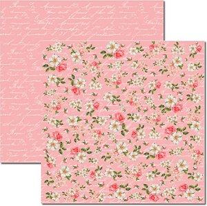 Papel Para Scrapbook Dupla Face 30,5x30,5 cm Arte Fácil - SC-280 - Shabby 6