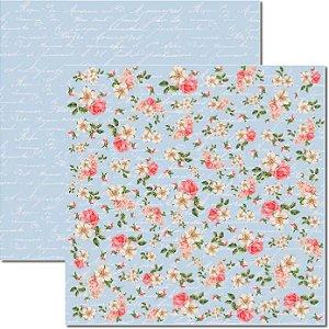 Papel Para Scrapbook Dupla Face 30,5x30,5 cm Arte Fácil - SC-277 - Shabby 3