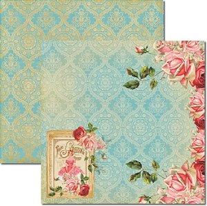 Papel Para Scrapbook Dupla Face 30,5x30,5 cm Arte Fácil - SC-271 - Bailarina Rosa