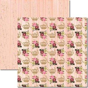 Papel Para Scrapbook Dupla Face 30,5x30,5 cm Arte Fácil - SC-261 - Roses 3
