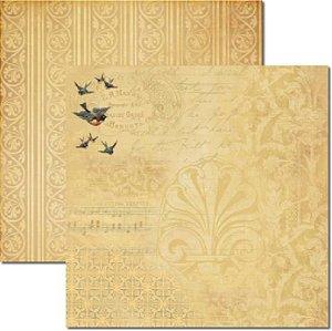Papel Para Scrapbook Dupla Face 30,5x30,5 cm Arte Fácil - SC-259 - Pássaros 3