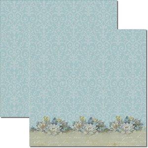 Papel Para Scrapbook Dupla Face 30,5x30,5 cm Arte Fácil - SC-254 - Lavanda 3