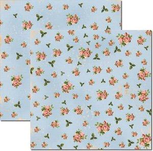 Papel Para Scrapbook Dupla Face 30,5x30,5 cm Arte Fácil - SC-247 - Flores Miúdas 1