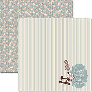 Papel Para Scrapbook Dupla Face 30,5x30,5 cm Arte Fácil - SC-384 - Costura 3