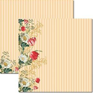 Papel Para Scrapbook Dupla Face 30,5x30,5 cm Arte Fácil - SC-376 - Tulipas 4
