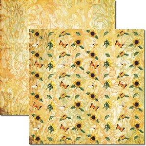 Papel Para Scrapbook Dupla Face 30,5x30,5 cm Arte Fácil - SC-371 - Girassol 4
