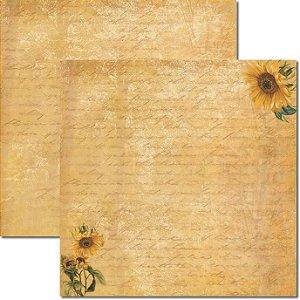 Papel Para Scrapbook Dupla Face 30,5x30,5 cm Arte Fácil - SC-370 - Girassol 3