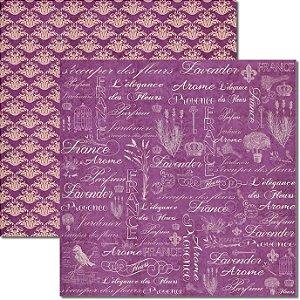 Papel Para Scrapbook Dupla Face 30,5x30,5 cm Arte Fácil - SC-366 - Alfazema 5