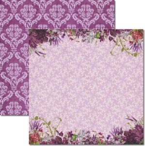 Papel Para Scrapbook Dupla Face 30,5x30,5 cm Arte Fácil - SC-365 - Alfazema 4