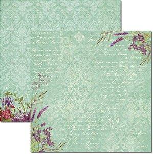 Papel Para Scrapbook Dupla Face 30,5x30,5 cm Arte Fácil - SC-362 - Alfazema 1