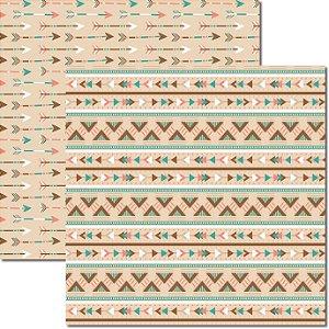 Papel Para Scrapbook Dupla Face 30,5x30,5 cm Arte Fácil - SC-360 - Tribal 6