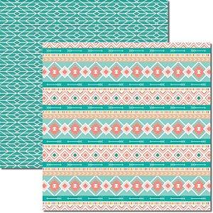 Papel Para Scrapbook Dupla Face 30,5x30,5 cm Arte Fácil - SC-359 - Tribal 5