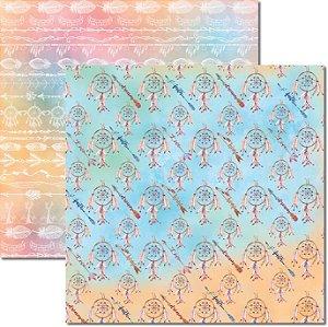 Papel Para Scrapbook Dupla Face 30,5x30,5 cm Arte Fácil - SC-357 - Tribal 3