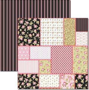 Papel Para Scrapbook Dupla Face 30,5x30,5 cm Arte Fácil - SC-352 - Patchwork 2