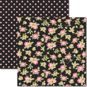 Papel Para Scrapbook Dupla Face 30,5x30,5 cm Arte Fácil - SC-348 Flores Miúdas 5