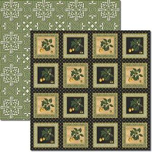 Papel Para Scrapbook Dupla Face 30,5x30,5 cm Arte Fácil - SC-344 Frutas Vintage 6