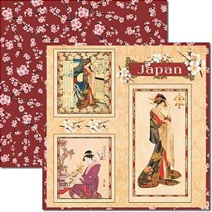 Papel Para Scrapbook Dupla Face 30,5x30,5 cm Arte Fácil - SC-332 Oriental 3