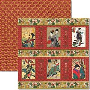 Papel Para Scrapbook Dupla Face 30,5x30,5 cm Arte Fácil - SC-331 Oriental 2