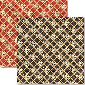 Papel Para Scrapbook Dupla Face 30,5x30,5 cm Arte Fácil - SC-330 Oriental