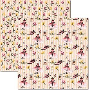 Papel Para Scrapbook Dupla Face 30,5x30,5 cm Arte Fácil - SC-323 Paris Shabby 3
