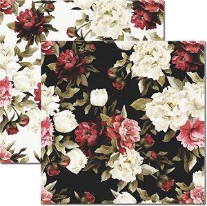 Papel Para Scrapbook Dupla Face 30,5x30,5 cm Arte Fácil - SC-318 Floral 4