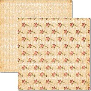 Papel Para Scrapbook Dupla Face 30,5x30,5 cm Arte Fácil - SC-197 Rosas e Arabesco 3