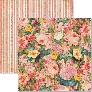 Papel Para Scrapbook Dupla Face 30,5x30,5 cm Arte Fácil - SC-178 Primavera 2