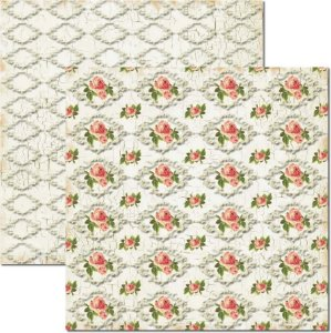 Papel Para Scrapbook Dupla Face 30,5x30,5 cm Arte Fácil - SC-174 Craquelê Branco