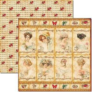 Papel Para Scrapbook Dupla Face 30,5x30,5 cm Arte Fácil - SC-170 Tags Dama