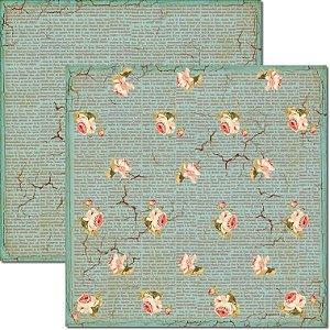 Papel Para Scrapbook Dupla Face 30,5x30,5 cm Arte Fácil - SC-167 Craquelê