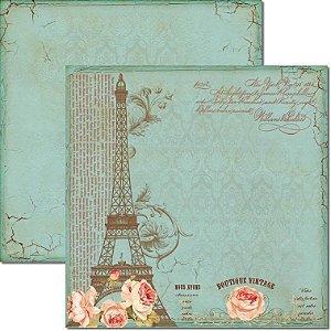 Papel Para Scrapbook Dupla Face 30,5x30,5 cm Arte Fácil - SC-166 Boutique Vintage