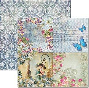 Papel Para Scrapbook Dupla Face 30,5x30,5 cm Arte Fácil - SC-093 15x15 Lavanda