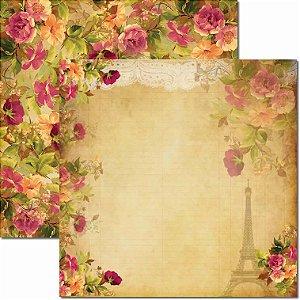 Papel Para Scrapbook Dupla Face 30,5x30,5 cm Arte Fácil - SC-061 Renda