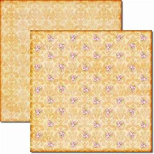 Papel Para Scrapbook Dupla Face 30,5x30,5 cm Arte Fácil - SC-057 Dama e Rosas 3
