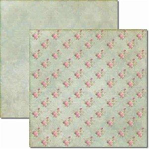 Papel Para Scrapbook Dupla Face 30,5x30,5 cm Arte Fácil - SC-039 Flores e Pássaros 2