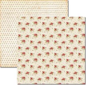 Papel Para Scrapbook Dupla Face 30,5x30,5 cm Arte Fácil - SC-219 Rosas e Arabesco 4