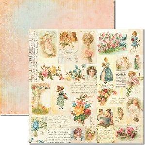 Papel Para Scrapbook Dupla Face 30,5x30,5 cm Arte Fácil - SC-205 Doce Encanto