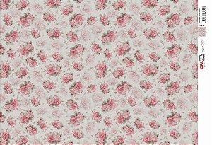 Papel Decoupage 30x45 cm OPAPEL 2403 - Estampa Flores Micho I