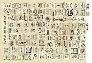 Papel Decoupage 30x45 cm OPAPEL 2531 - Estampa Jornal